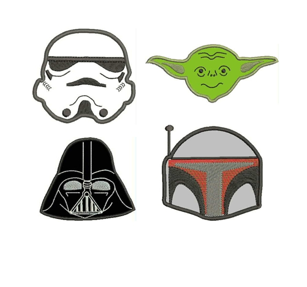 Meringue Designs Star Wars Appliques