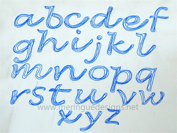 Picture of Scribbled Cursive Alphabet ...
