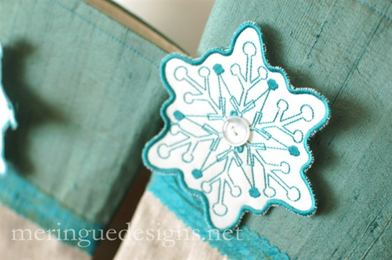 Picture of Snowflake Applique & Buttonholes