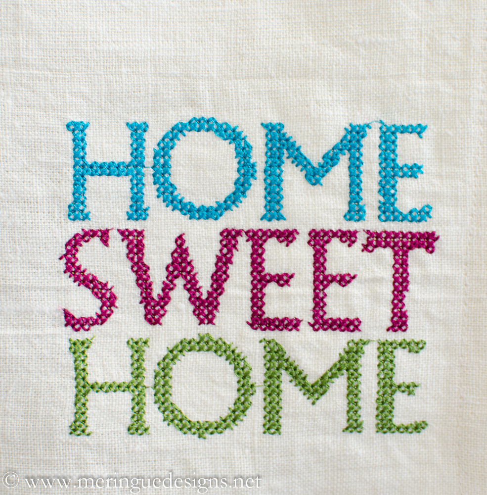 Top / All Designs / Cross Stitch Home Sweet Home