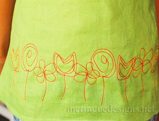 Picture of Scribbled Field of Flowers