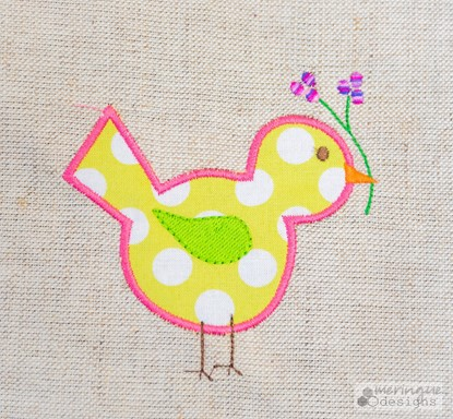 Picture of Springtime Bird Applique & Outline